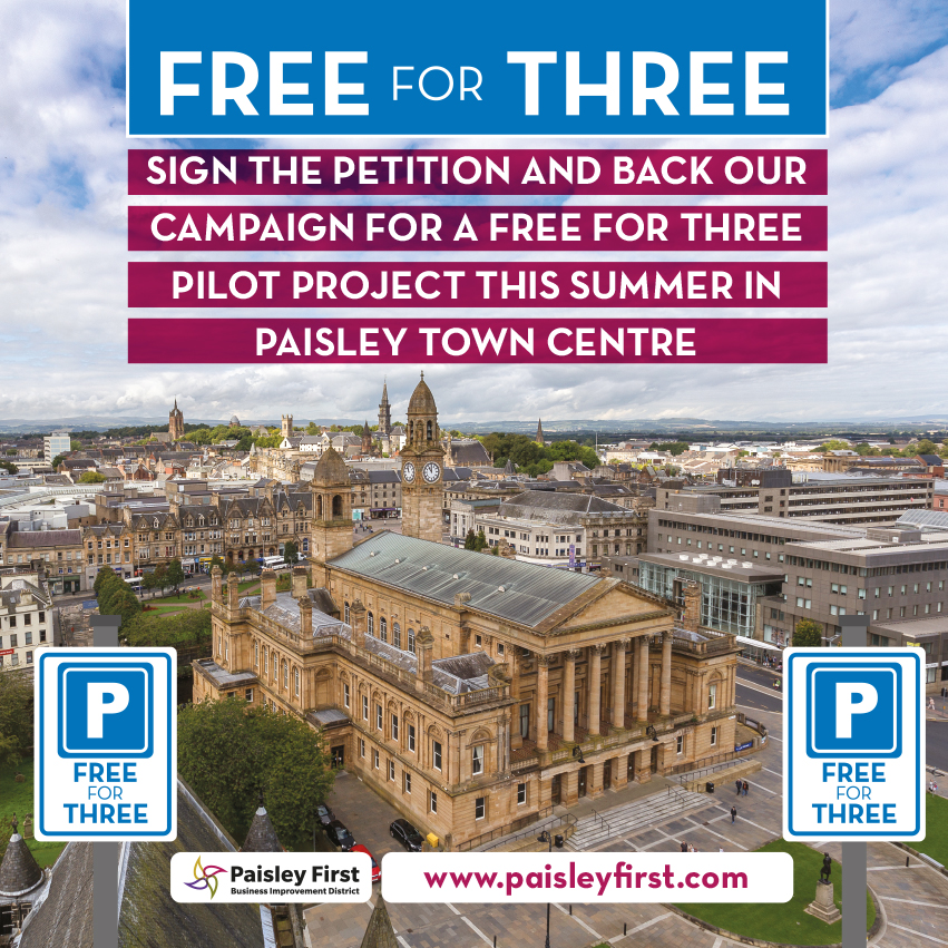Paisley First to launch Petition for Free for Three Pilot Project