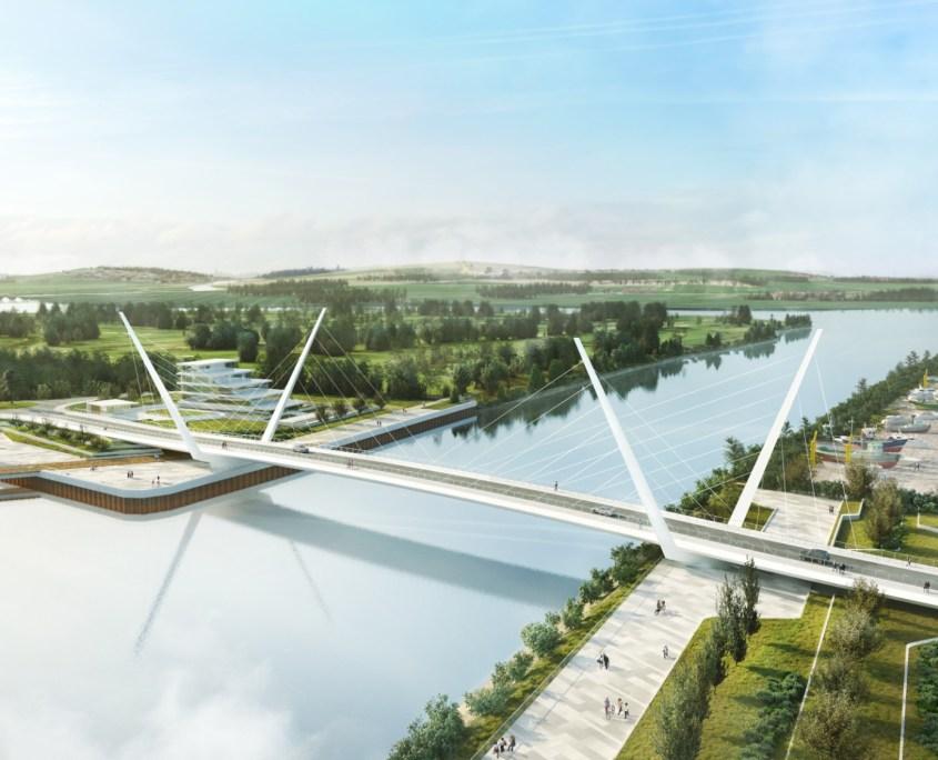 Clyde Waterfront Renfrew Riverside - Clyde bridge