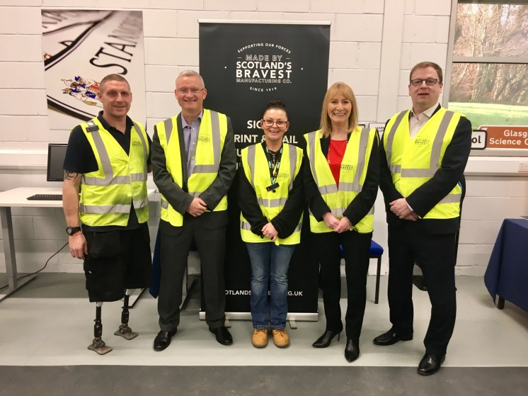 BEAR Scotland Managing Director Iain Murray (2nd left) with SBMC Director Michelle Ferguson (2nd right) and staff