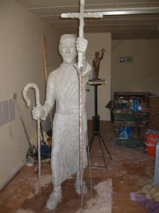 St Mirin statue in progress