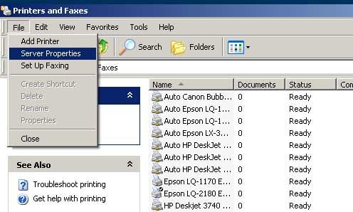 Setting custom size paper di Windows XP