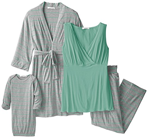 3681abce5bca1 Everly Grey Women's Maternity Roxanne Nursing Pajama Pant Set with Baby Gown