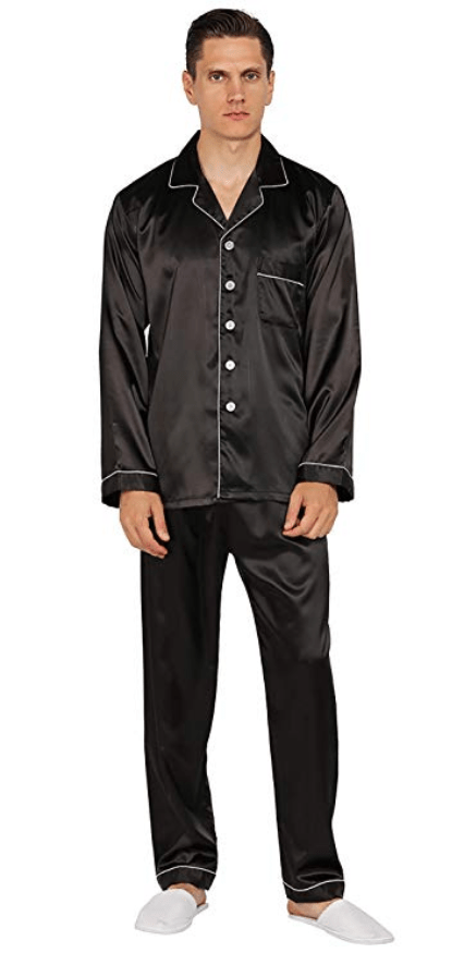 Generic Mens Plaid 2 Piece Button Short Sleeve Pajama Set Loungewear