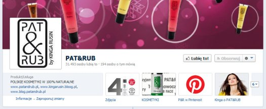 Ikonka Pinterest na profilu Pat & Rub na Facebooku