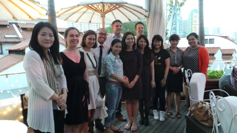 Group Photo before dinner - with Mr.Jorgen, Mr.Ian and colleagues from Adecco SG, MY, HK, KR, JP and VN