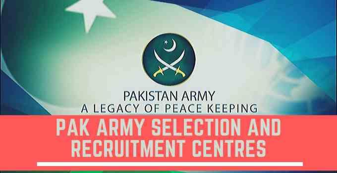 PAK Army Selection & Recruitment Centres