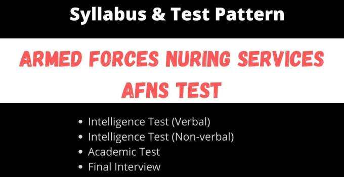 AFNS Test Syllabus