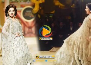 saba qamar fell on ram runway