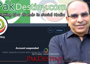 Pak Destiny Tweeter account suspended soon after it broke Malik Riaz story involving £190million in Britain to be handed over to Pakistan