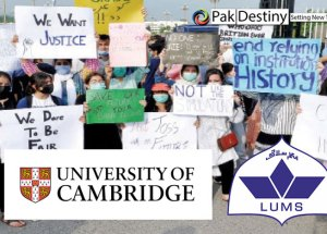 Justice for Cambridge O & A level affectees -- LUMS urged to review its policy