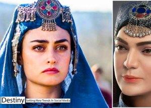 Ertugrul sensation -- Esra Bilgic -- casting a spell on a Pakistani makeup artist