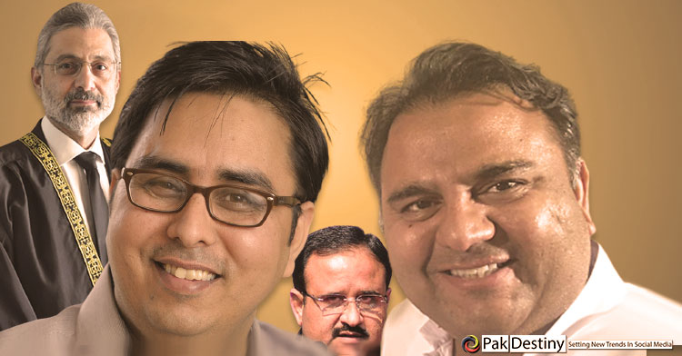 Anti-Buzdar duo -- Fawad Chaudhry and Shahbaz Gill -- gang up against Justice Isa