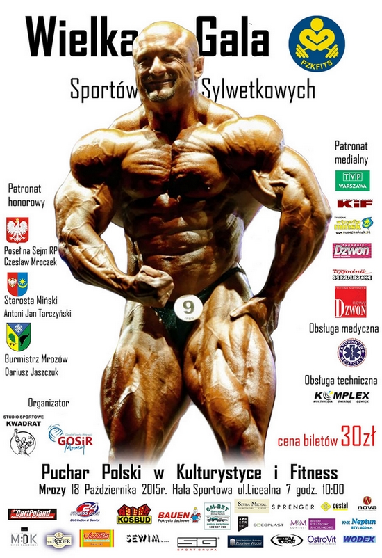 plakat zawody kulturystyka