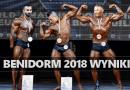 wyniki mistrzostwa świata kulturystyka benidorm 2018