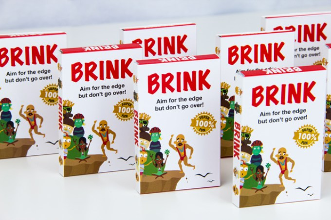 Custom packaging for the Brink card game.