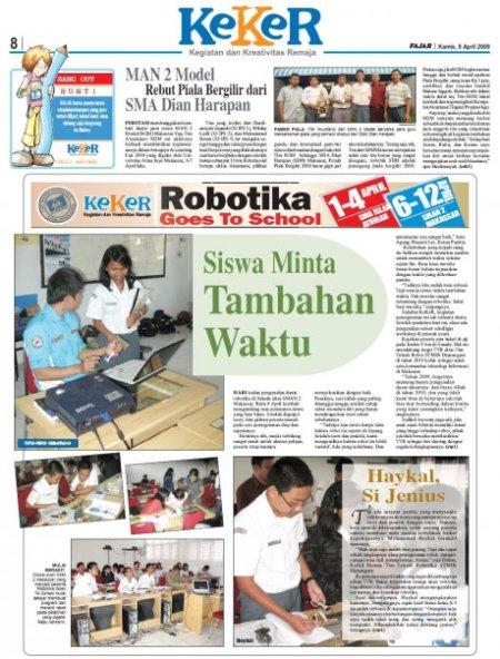 Pelatihan Perakitan dan Pemrograman Robot di SMA Negeri 2