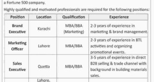 Pakistan Cables Jobs 2018 Advertisement How to Apply