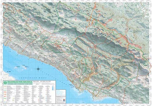PAKLENICA     Mountain map     Poster 90    70 cm   Paklenica map preview