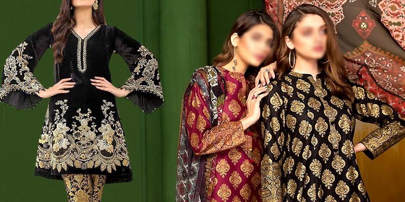 Trendy Pakistani Winter Dresses Designs 2020 Pakstyle Fashion Blog