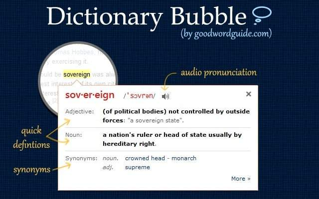 dictionary bubble