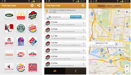 Find fast food , fast food android apps