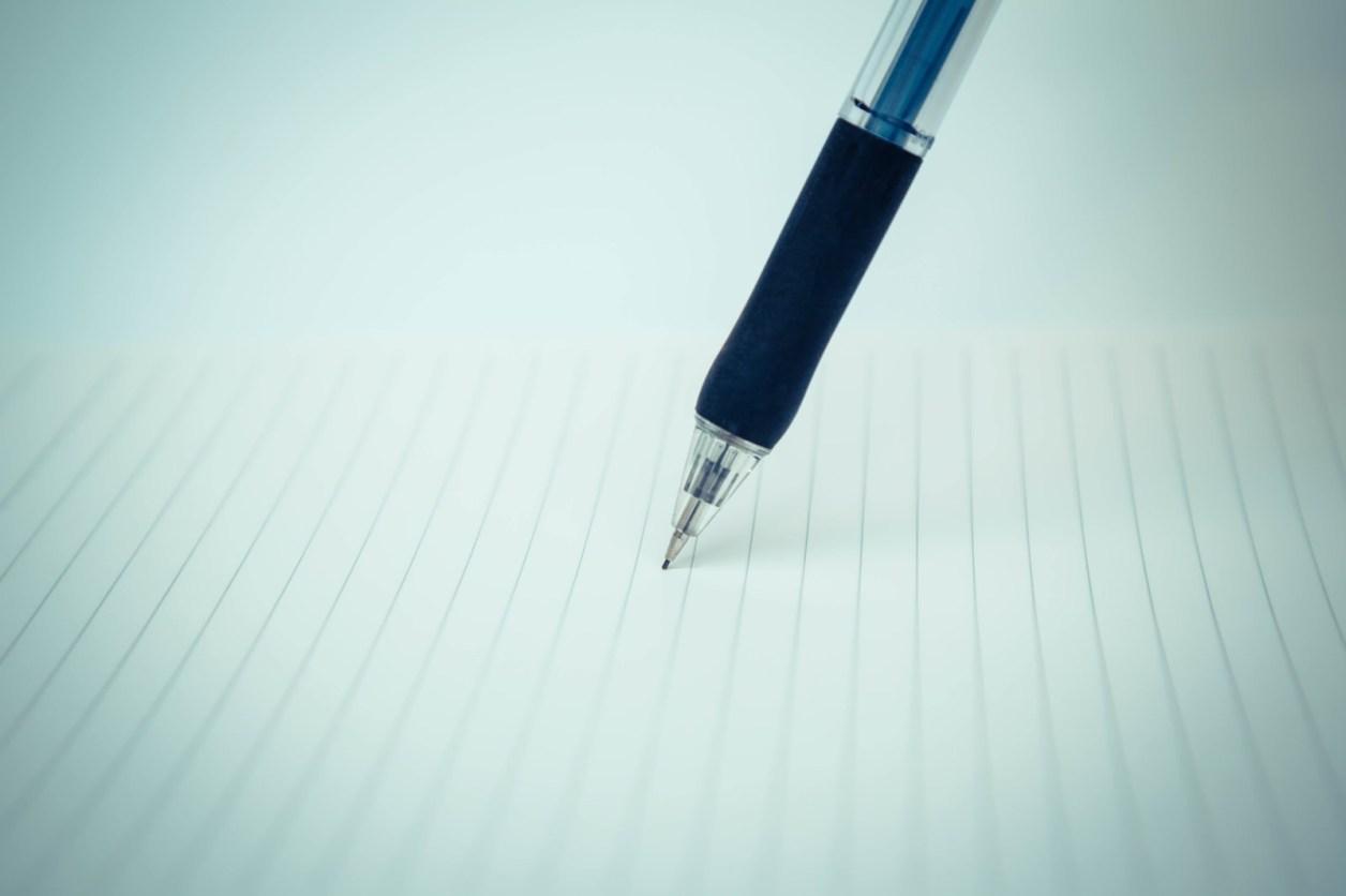 「ペンとノート」の写真