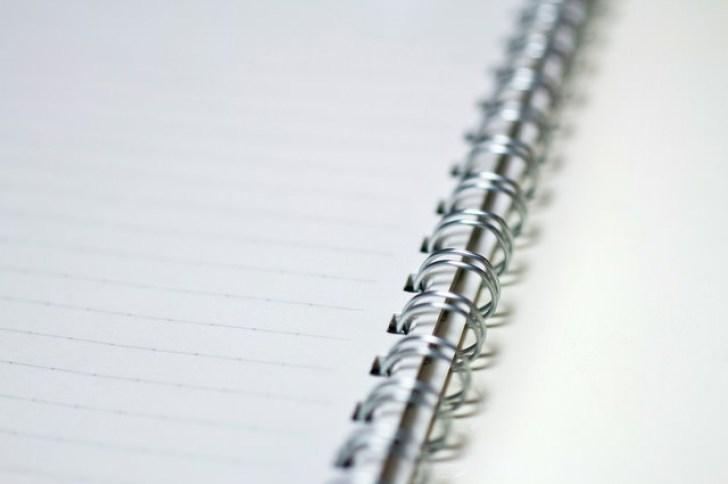 メモに使うリングノート
