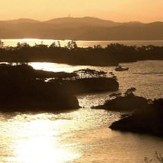 松島の夕景