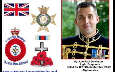 Sgt Lee Paul Davidson Killed Afghanistan 9th September 2012