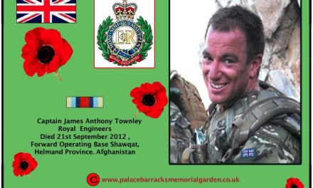 Captain James Anthony Townley from the Corps of Royal Engineers died in Afghanistan on Friday 21 September 2012