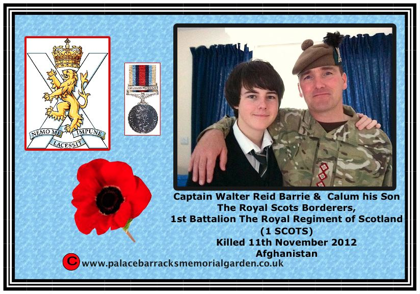 Captain Walter Barrie killed in Afghanistan 11th November 2012