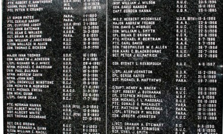 "2nd Memorial Granite Tablet for the members of the RUC and  Armed Forces killed in the Newry and Mourne District during ""The Troubles"""