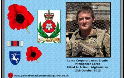 Lance Corporal Brynin,  Intelligence Corps KIA Afghanistan 15th October 2013