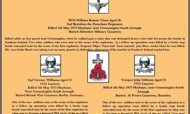 5th May 1973 Three Servicemen Murdered in Northern Ireland
