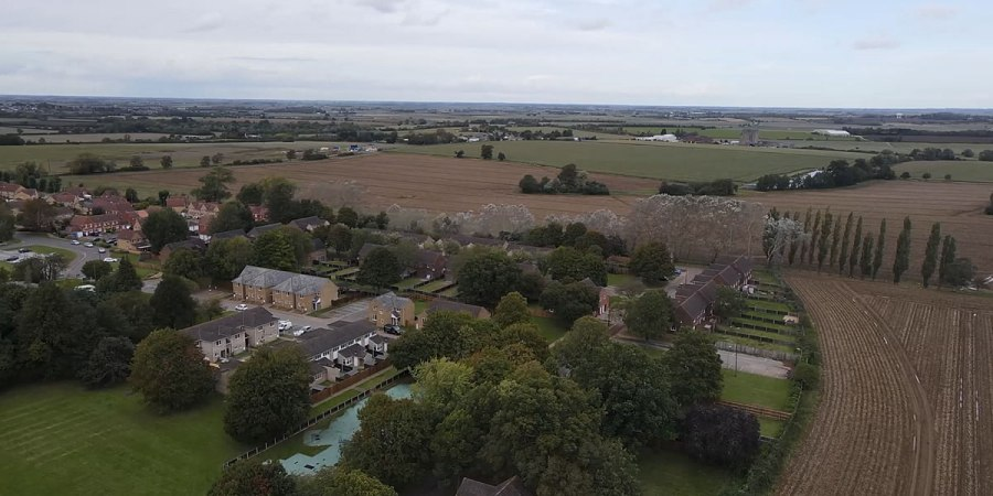 A birds-eye view of the Ely development