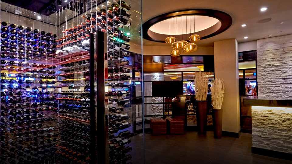 room shot of wine cellar near charcoal room entrance