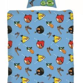 lenjerie de pat copii Angry Birds Slingshot