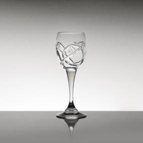 Pahare cristal Bohemia pentru lichior - TULIP