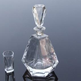 Set sticla si pahare cristal Tuica - VICTORIA