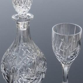 Set sticla si pahare cristal Vin - INGRID