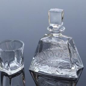 Set sticla si pahare cristal whisky - KATHREN