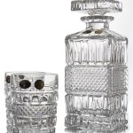 Set Sticla si Pahare Cristal Whisky - BRITTANY