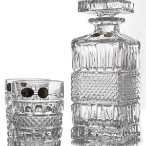 Set Sticla si Pahare Cristal Whisky - BRITTANY