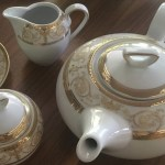 serviciu cafea portelan sharim gold