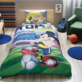 lenjerie de pat copii mickey mouse goal