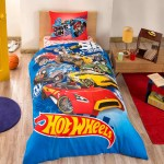 lenjerie pat copii cars hot wheels