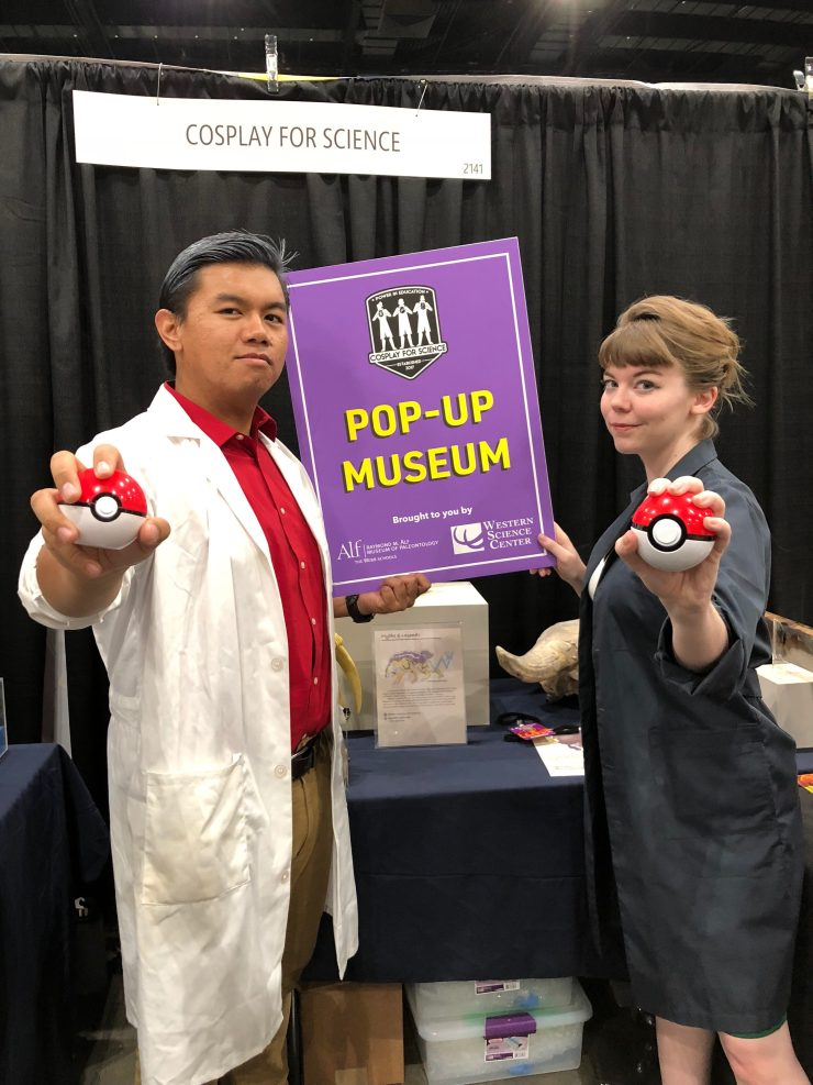 Figure 1 — Myself as the Pokemon Professor Oak and Brittney Stoneburg as Professor Juniper at the 2018 Los Angeles Comic Con.