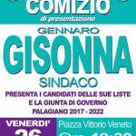 Conferenza stampa Gisonna venerdì 26 maggio 19:30 piazza Vittorio veneto