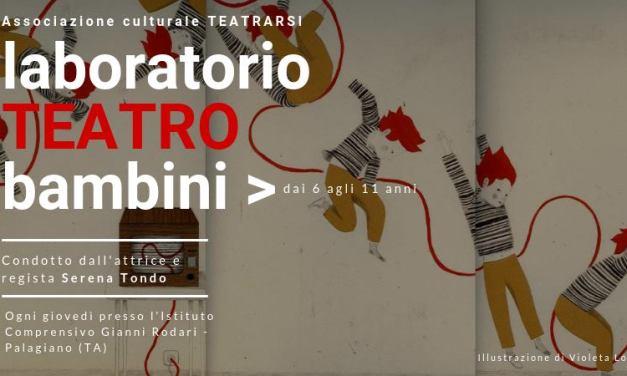 Laboratorio Teatrale Ragazzi a cura dell'Associazione Teatrarsi