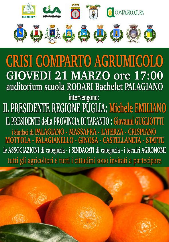 NUOVO MARCHIO DI QUALITÀ DEL CLEMENTINE: presentazione lavori a Palagiano.